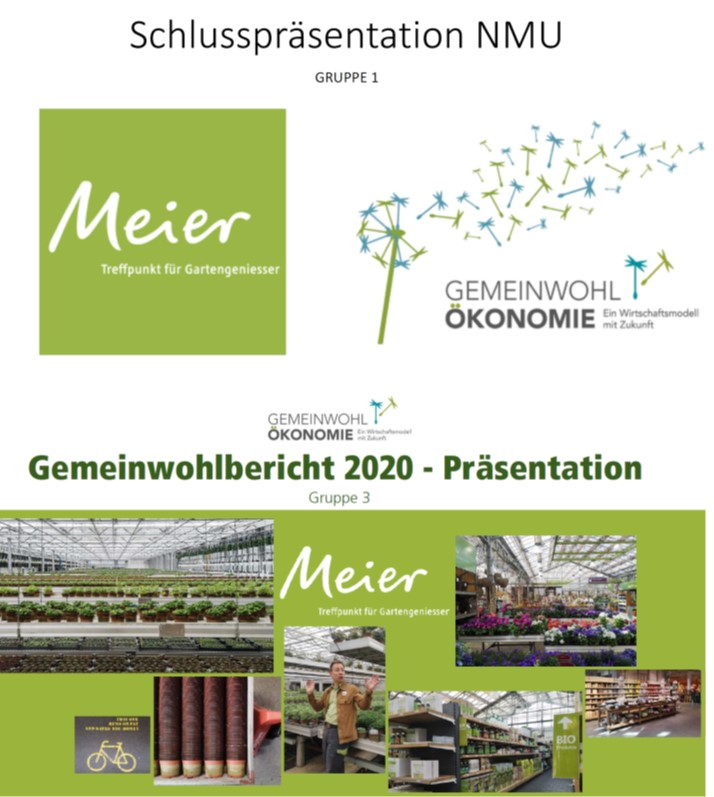 Gartencenter Meier AG, Dürnten Gemeinwohl-Bilanz Projekt/Prozess mit Student*innen der ZHAW IUNR Wädenswil