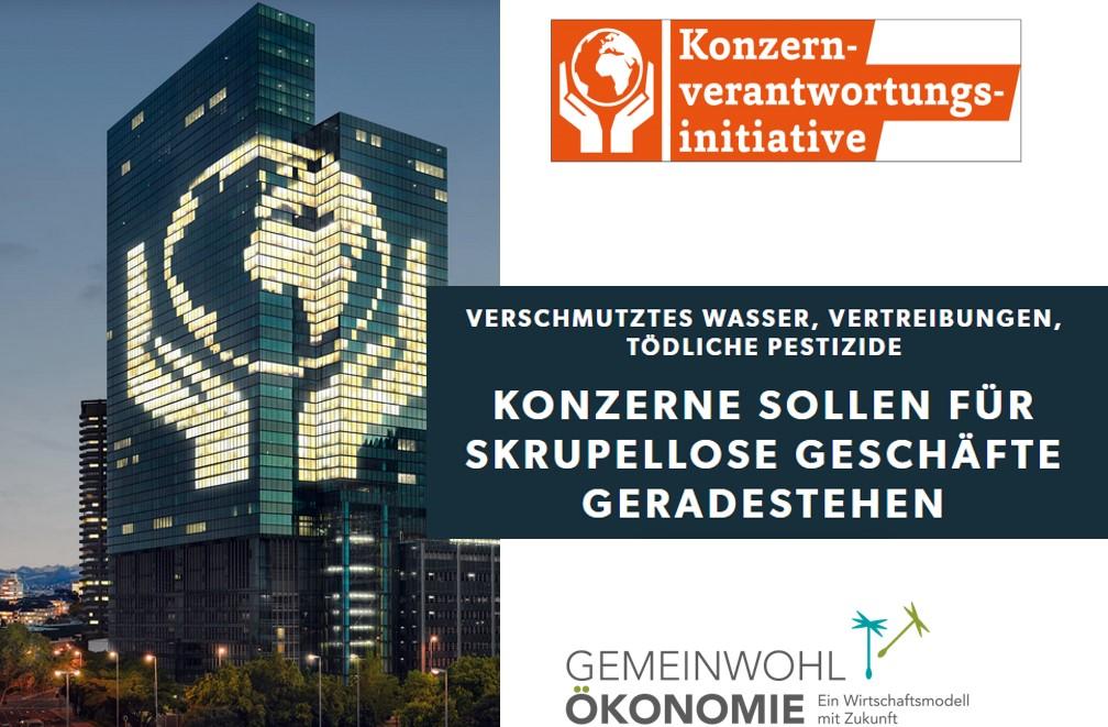 Konzernverantwortungsinitiative: GWÖ Schweiz als aktive Unterstützerin