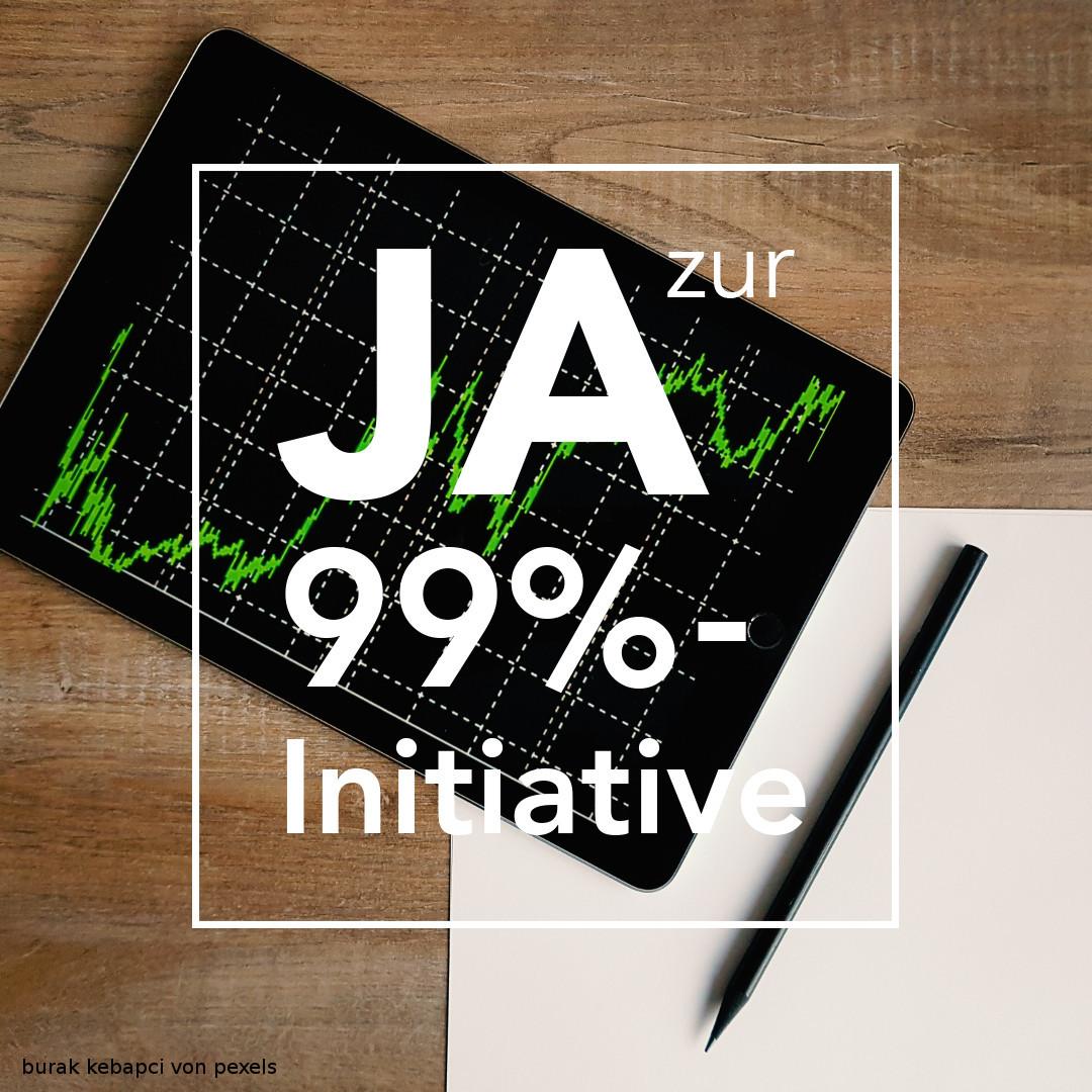 JA zur 99%-Initiative – Pressemitteilung