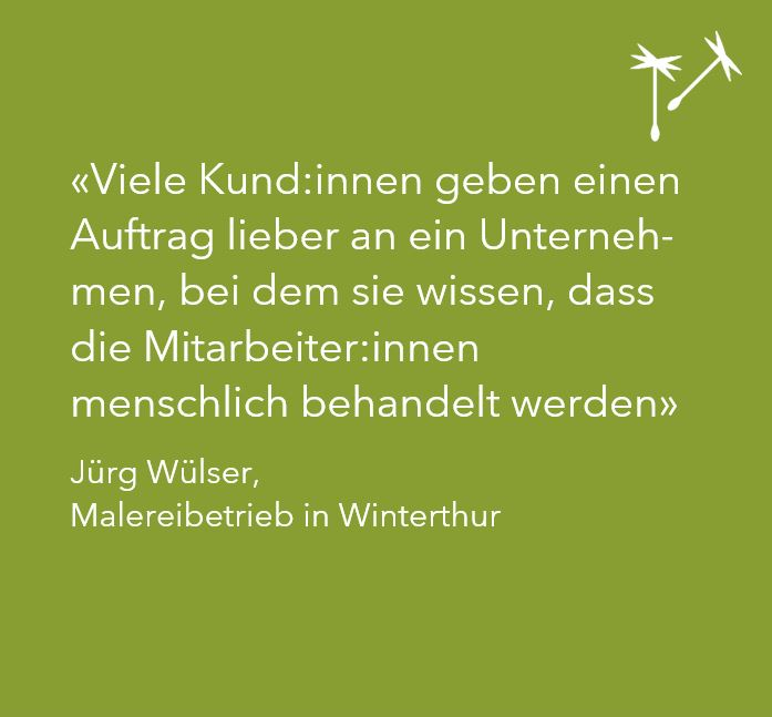 EINBLICKE No1 – Malereibetrieb Wülser, Winterthur